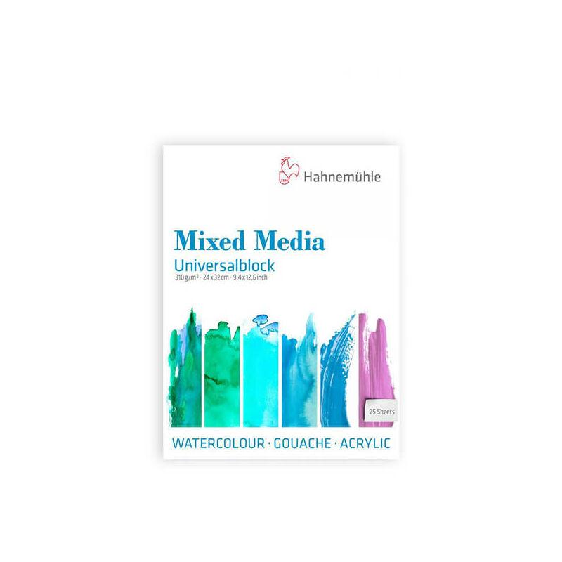 Hahnemühle Mixed Media univerzális festőtömb, 310 g, 25 lap - 24x32 cm