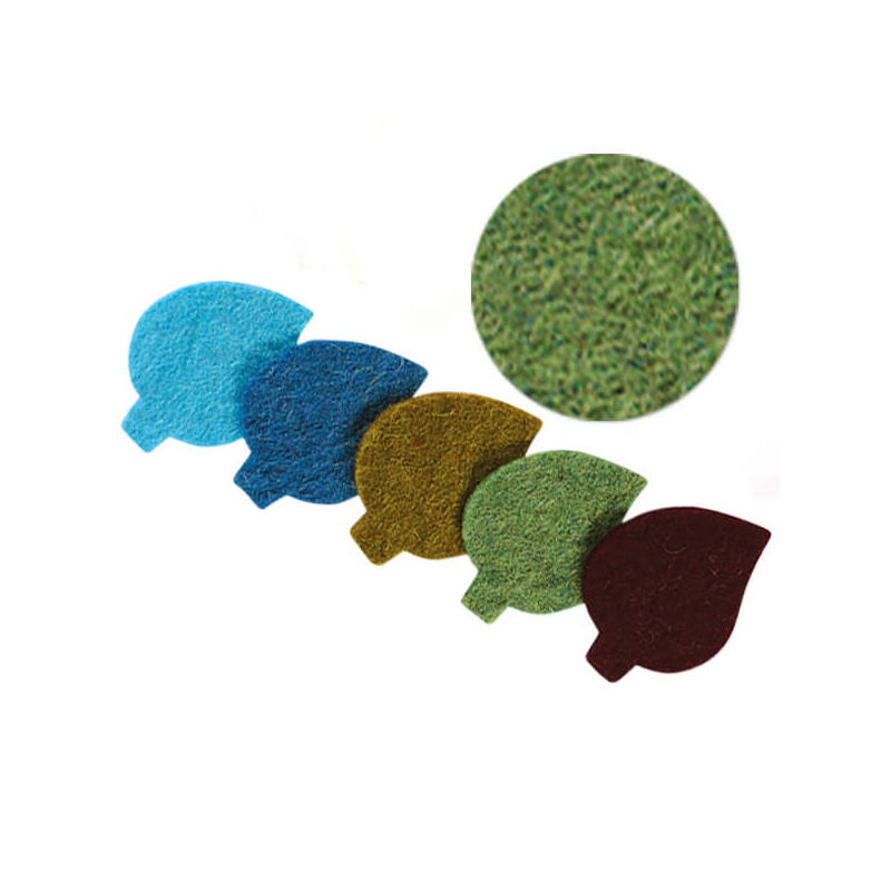 Filc forma, lapos - levél, zöld, darabra