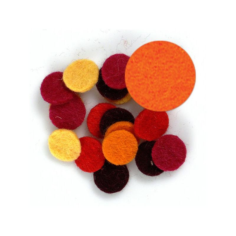 Filc forma, lapos - kör, narancs, darabra