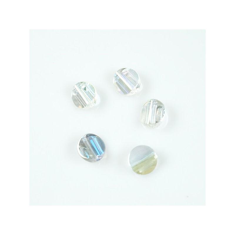 Üveggyöngy Yingli - kerek, átlátszó, 5 db