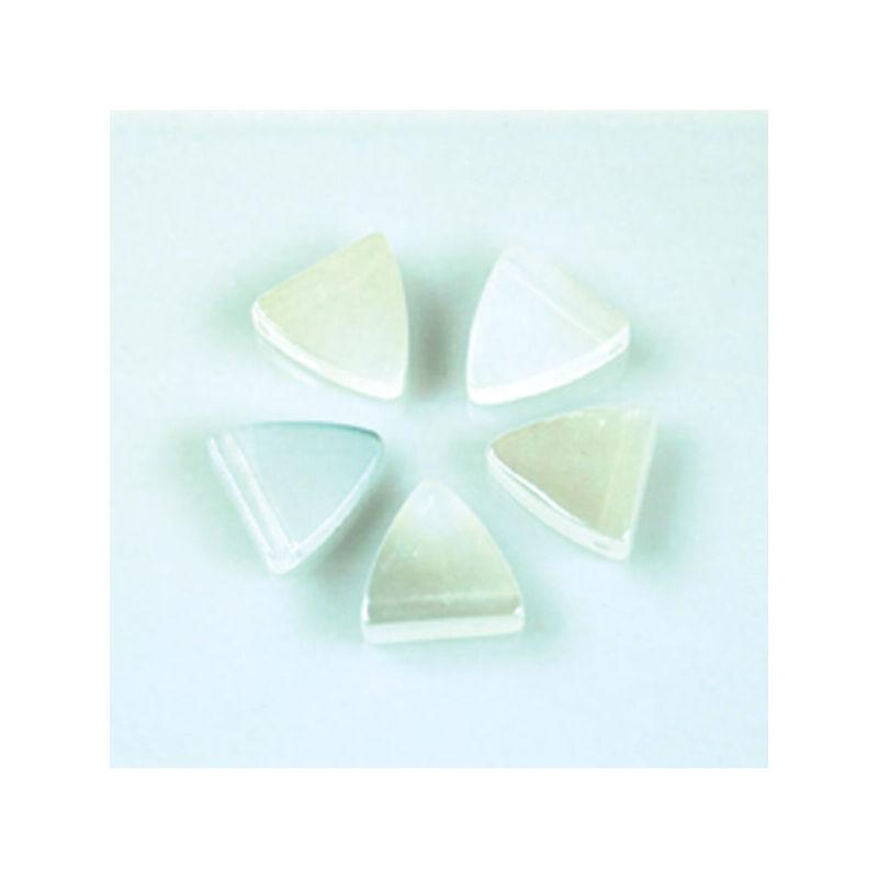Üveggyöngy Yingli - pajzsgyöngy, fehér, 5 db