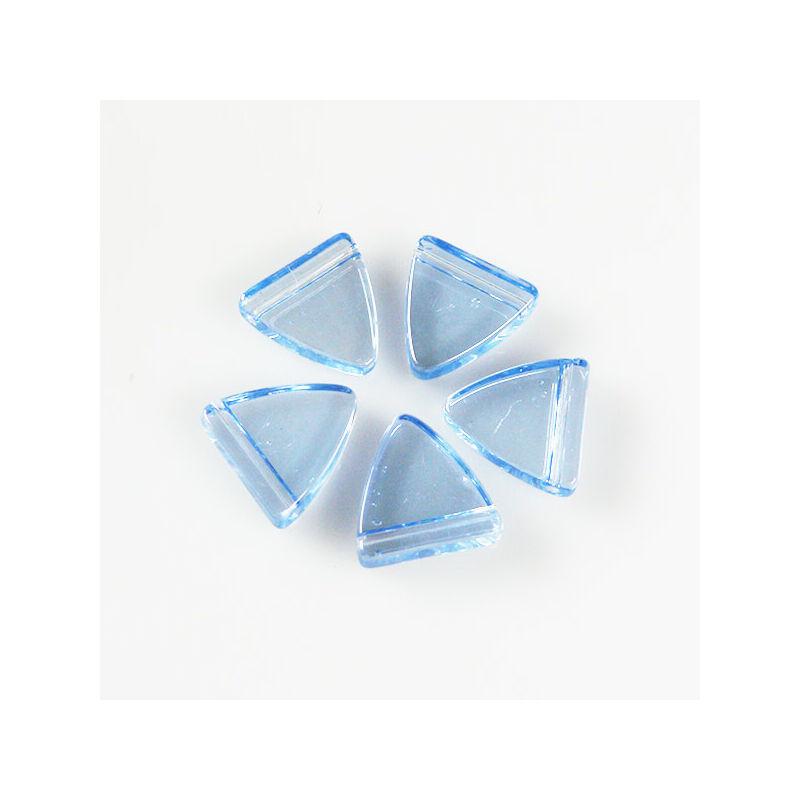 Üveggyöngy Yingli - pajzsgyöngy, kék, 5 db
