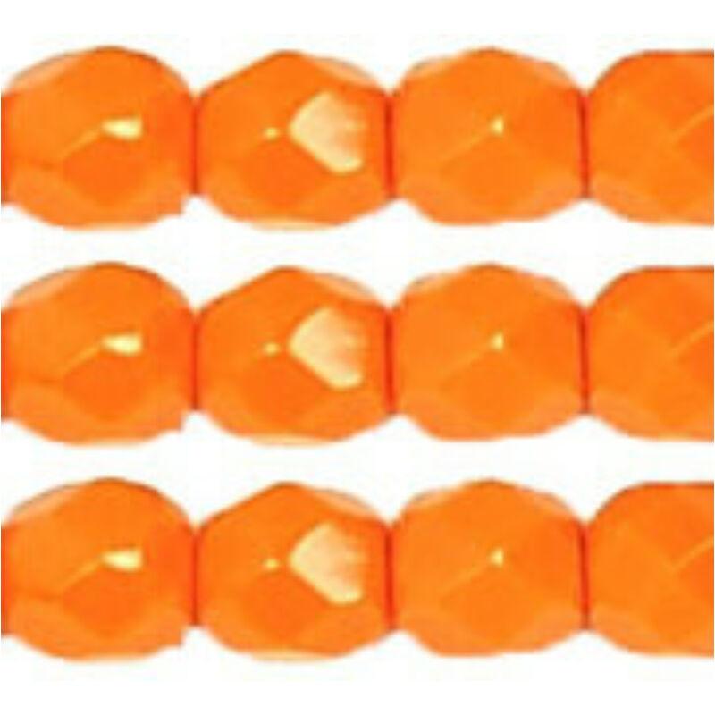 Cseh csiszolt üveggyöngy, 4 mm - orange opaque