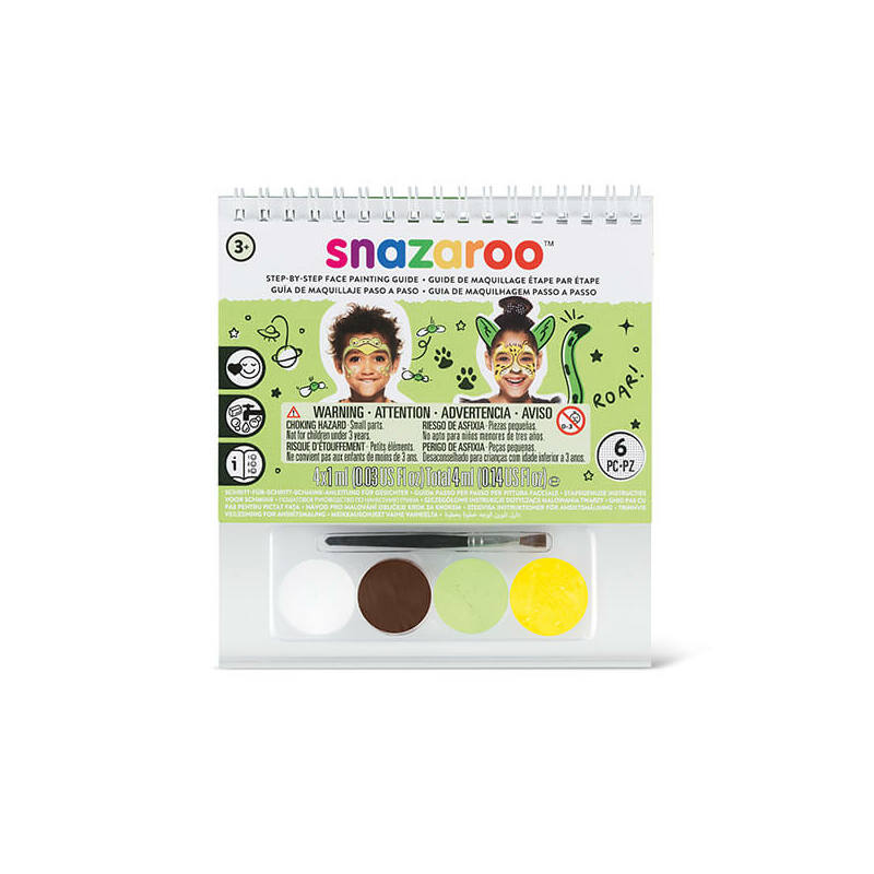 Snazaroo arcfesték készlet + sminkkönyv, 4x1 ml - Unisex