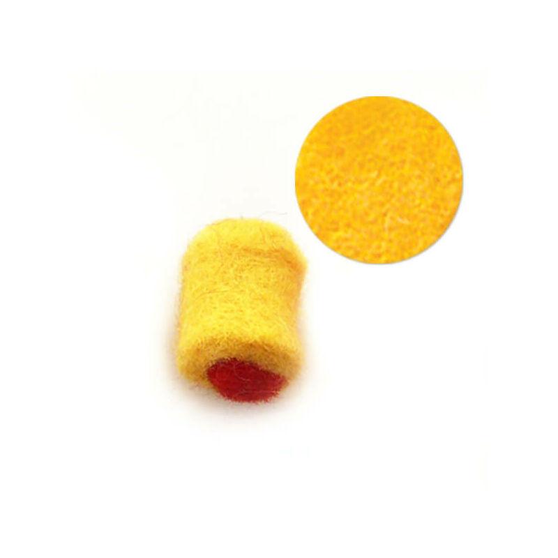 Filcgyöngy, töltött cukor - sárga