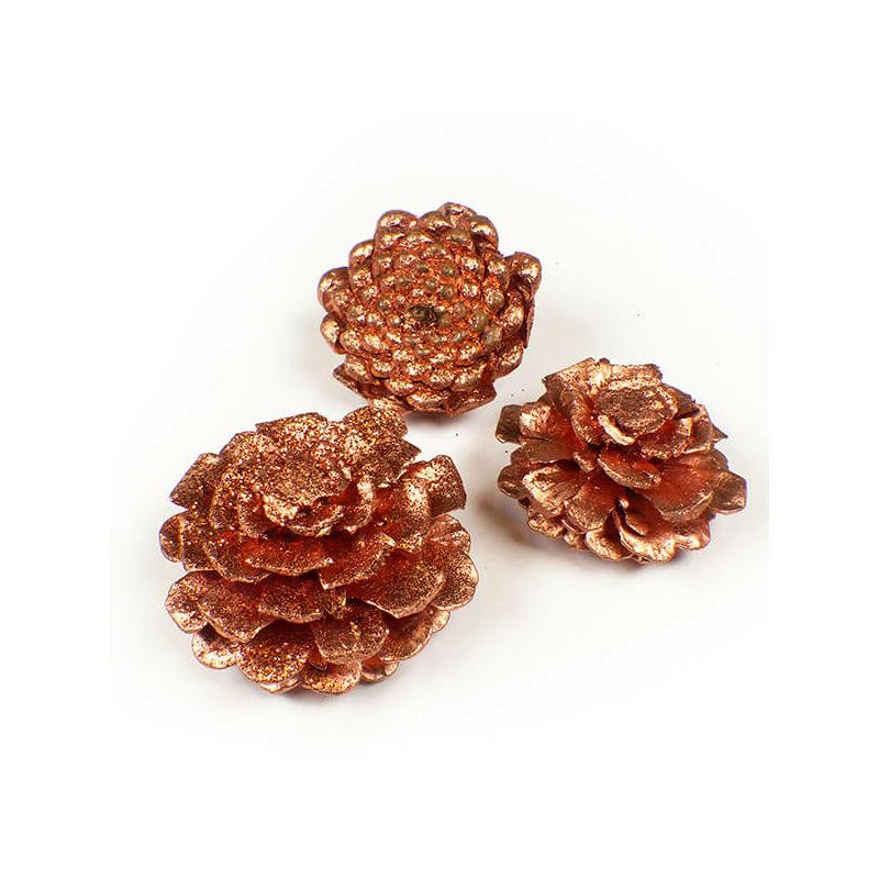 Száraztermés - Rózsa toboz, bronz, 3 db