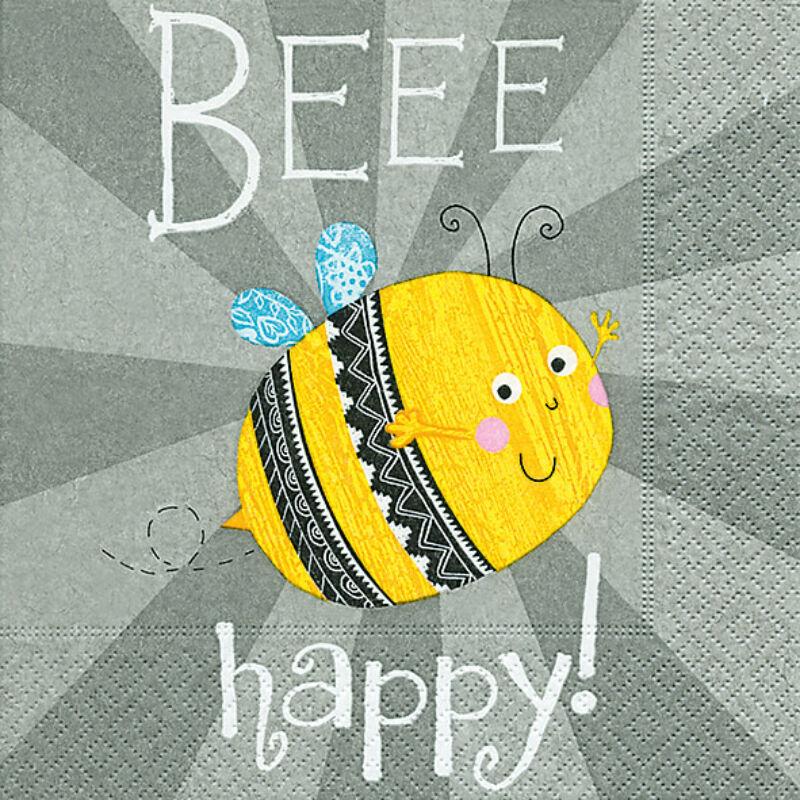 Szalvéta csomagban - Légy boldog! Bee happy