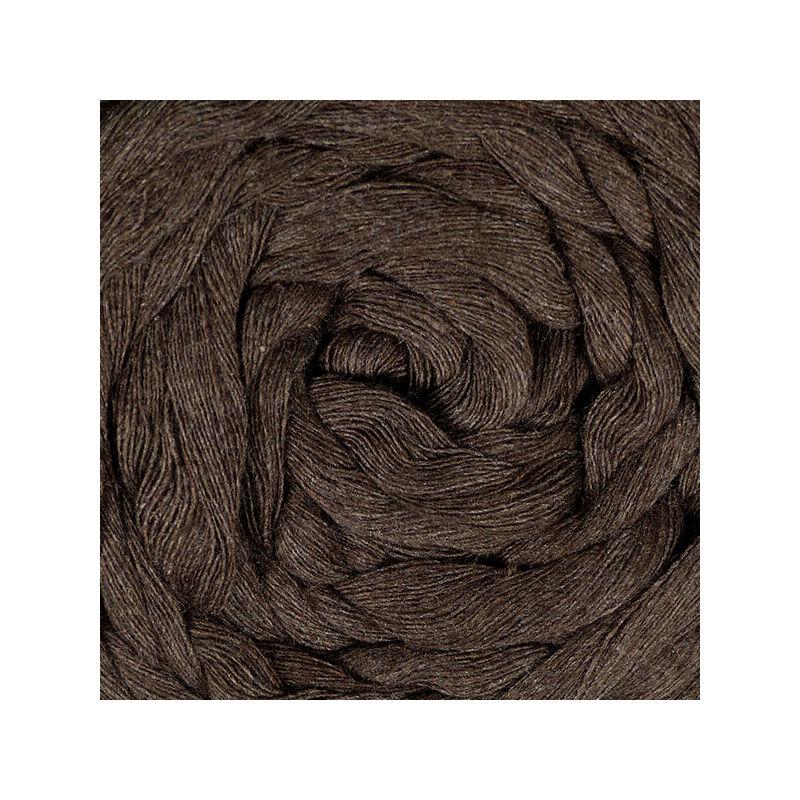Makraméfonal, Toledo, kifésülhető, 4 mm - barna