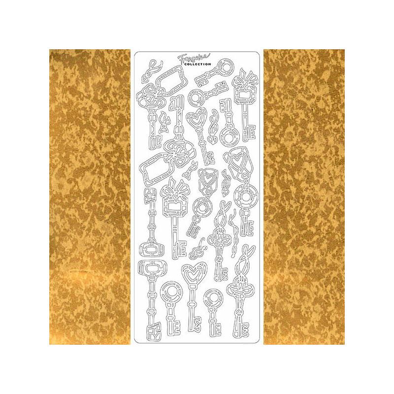 Kontúrmatrica - kulcsok, antik arany, 2241 - AKCIÓS