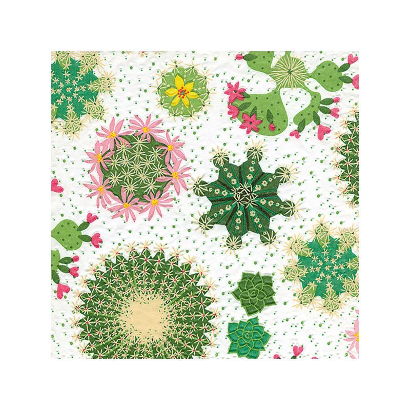 Szalvéta csomagban - Kaktusz, domborított