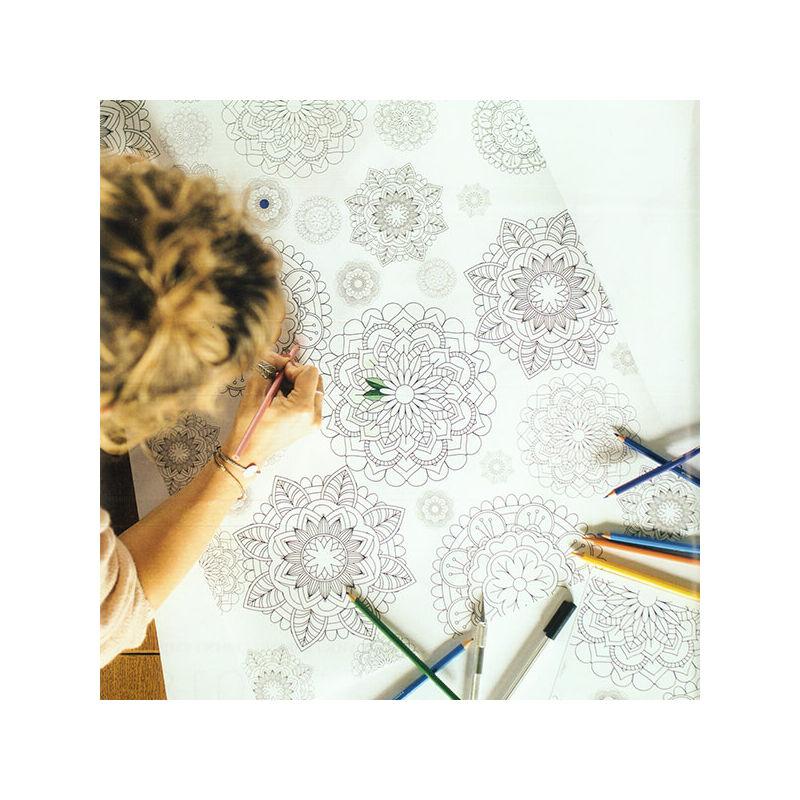Fotókarton, A4 - matt mandala, színezhető