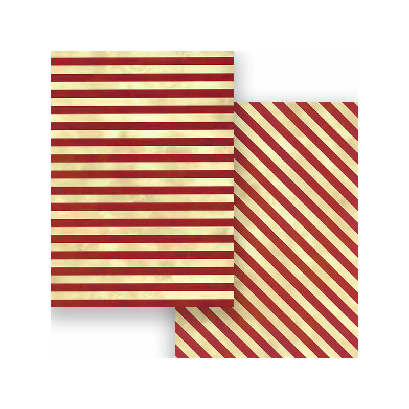Fotókarton, 50x70 cm - Retro csíkos, borvörös-bézs