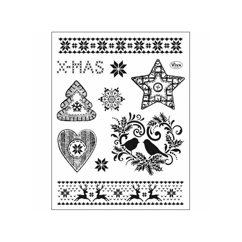 Pecsételő szilikon, 14x18 cm - Karácsonyi motívumok 2