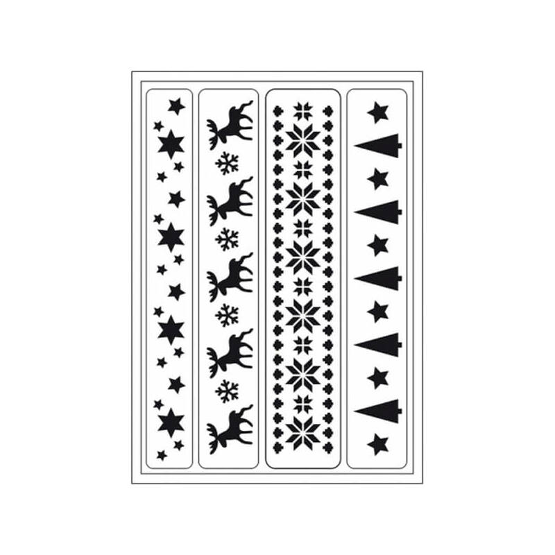 Öntapadós stencil, 15x28 cm - Szarvas bordűr