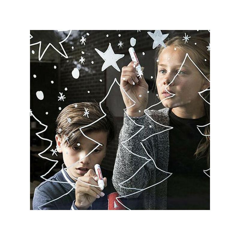 Kréta marker, folyékony kréta, EDDING 4095 - fehér karácsony üvegre
