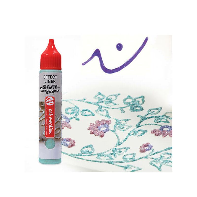 Art Creation Effect Liner, univerzális 3D festéktoll, 28 ml - 8952 Shimmer purple