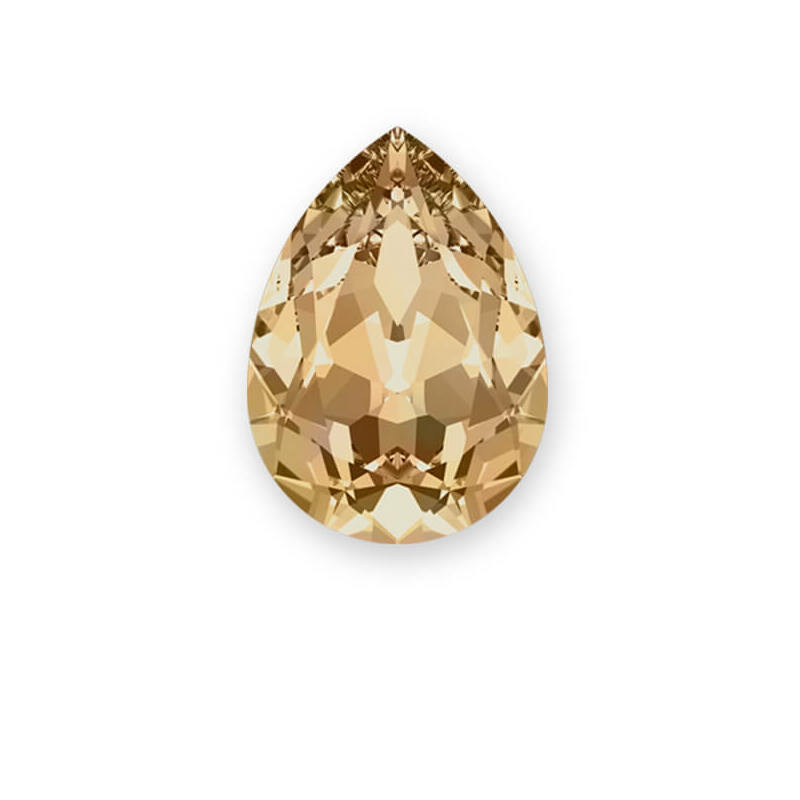 4320 Swarovski csepp alakú befoglalható kristály 18x13 mm - Crystal Golden Shadow