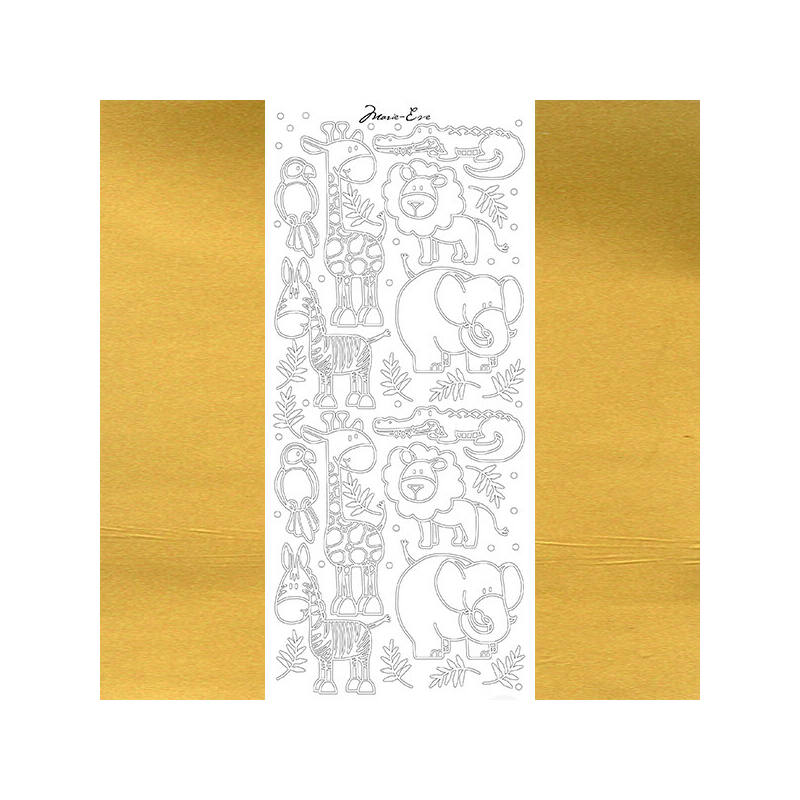 Kontúrmatrica - állatfigurák, arany, 4396  - AKCIÓS
