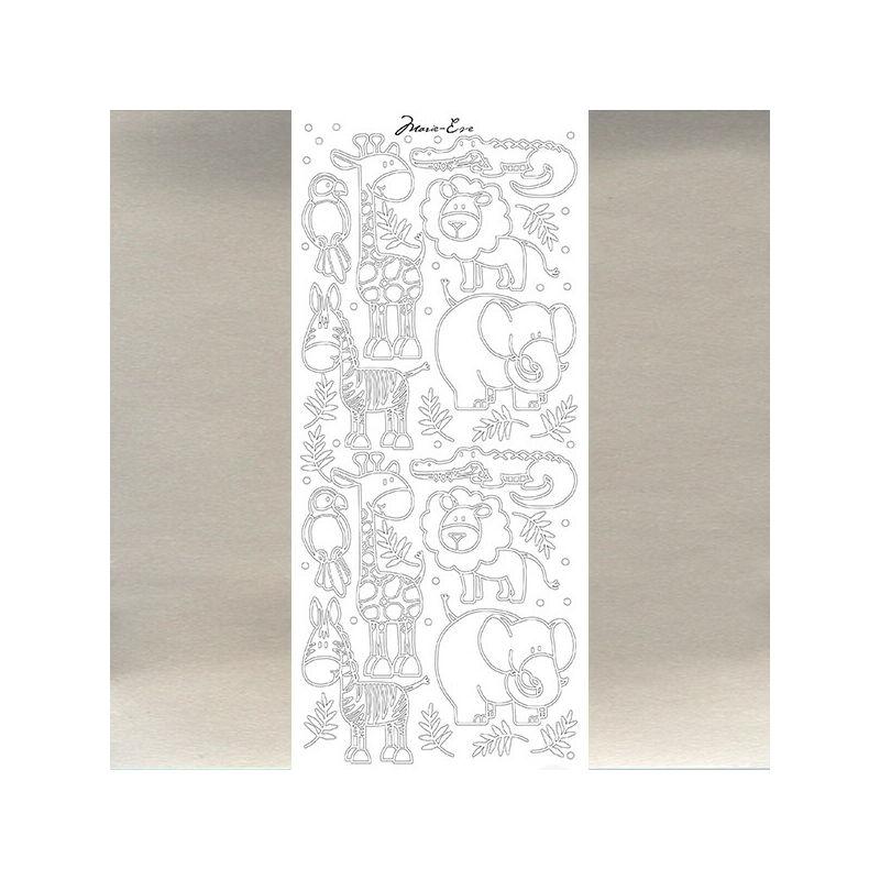 Kontúrmatrica - állatfigurák, ezüst, 4396  - AKCIÓS
