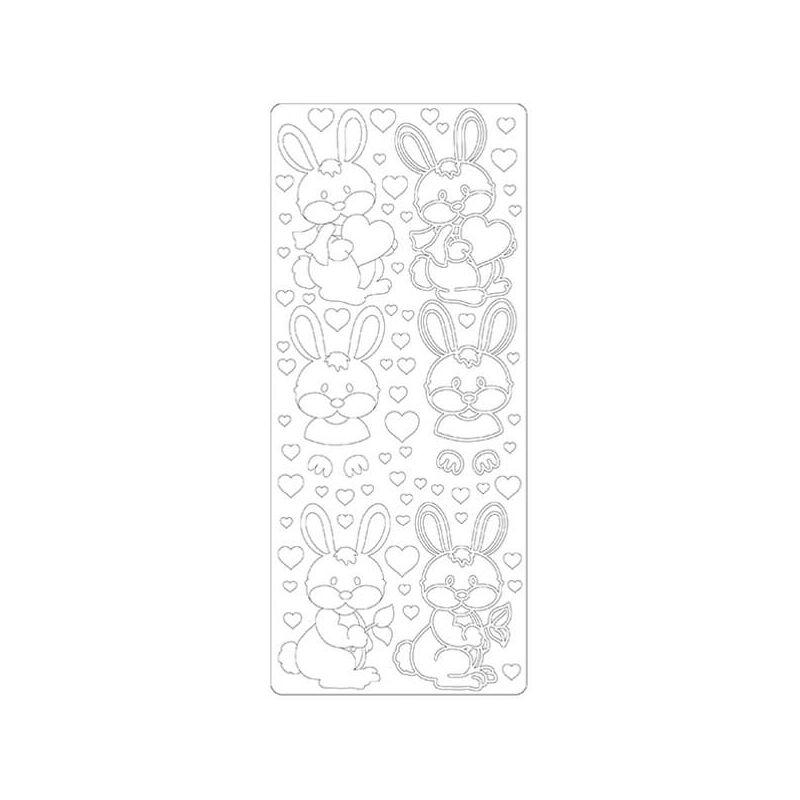 Kontúrmatrica - szerelmes nyuszi, fehér, 4560 - AKCIÓS