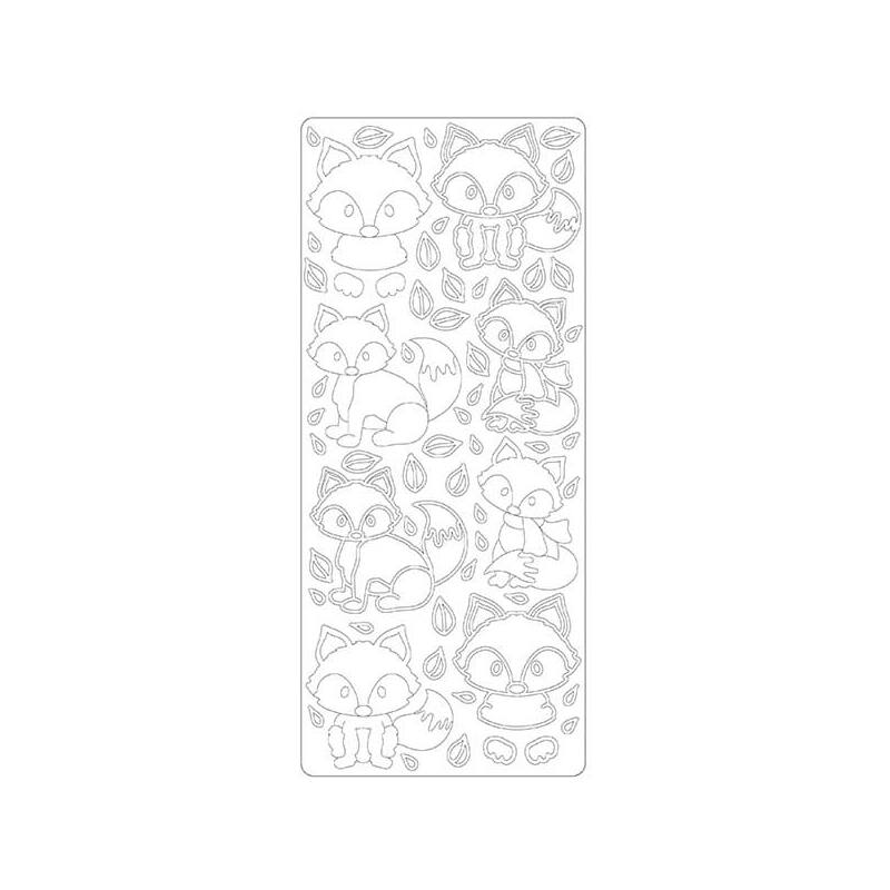 Kontúrmatrica - róka, fehér, 4564 - AKCIÓS