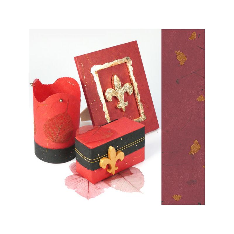Golden Star rostpapír, 50x70 cm - bordó, 35g