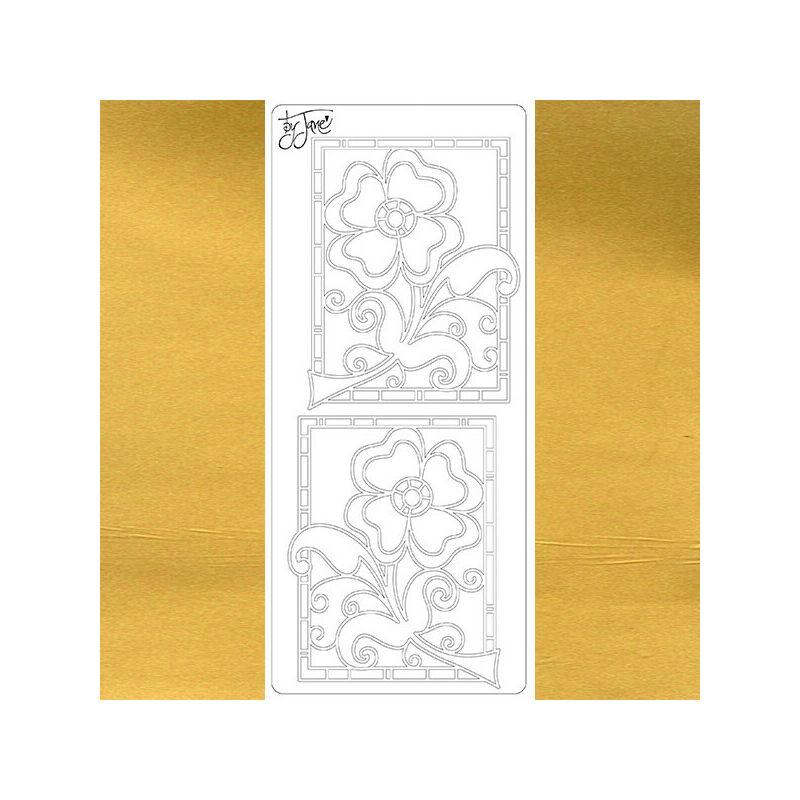 Kontúrmatrica - virág by Jane, arany, 4668 - AKCIÓS