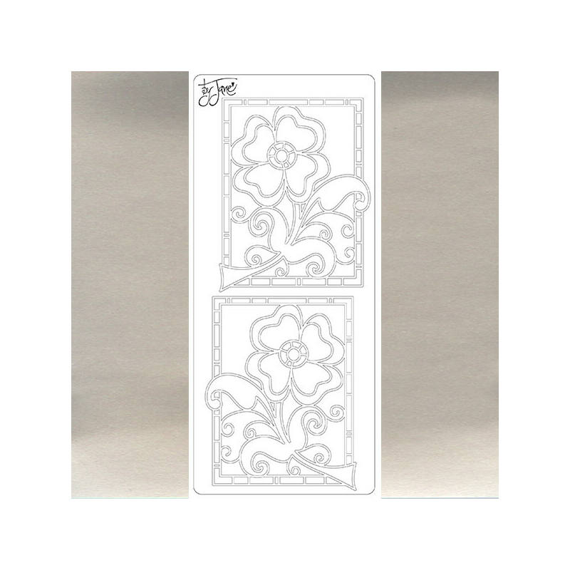 Kontúrmatrica - virág by Jane, ezüst, 4668 - AKCIÓS