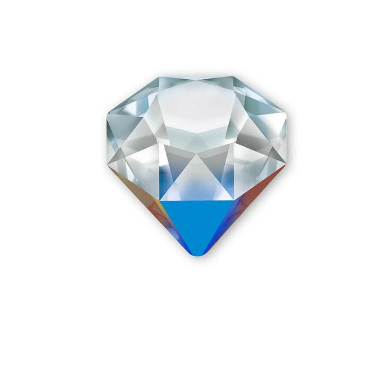 4928 Swarovski Tilted Chaton, 12 mm - Crystal Bermuda Blue