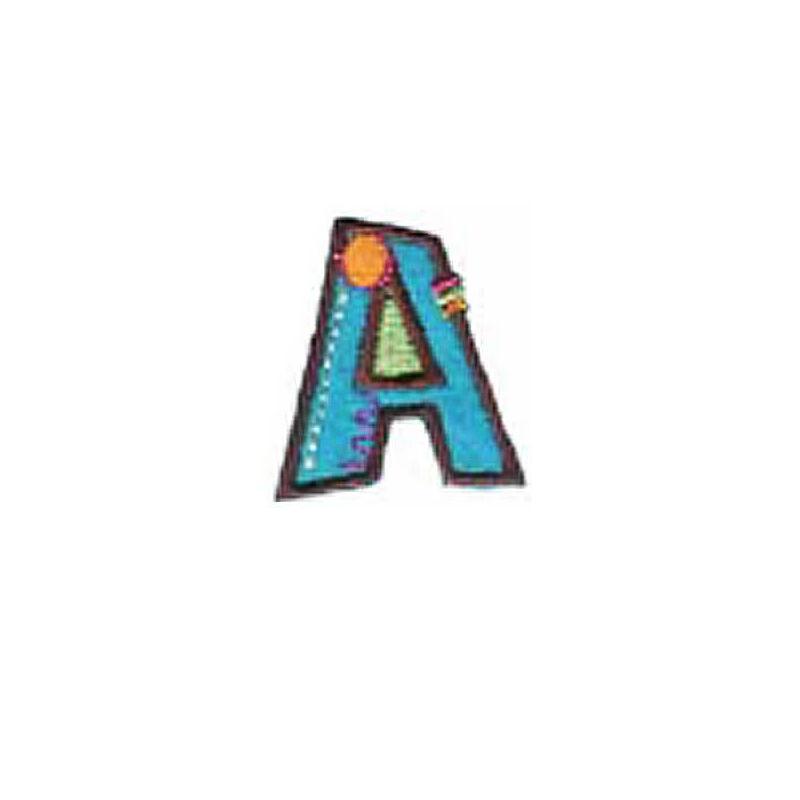 Textil betű, vasalható - A, színes