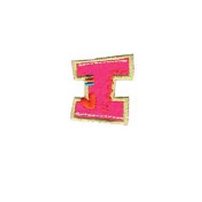 Textil betű, vasalható - I, színes