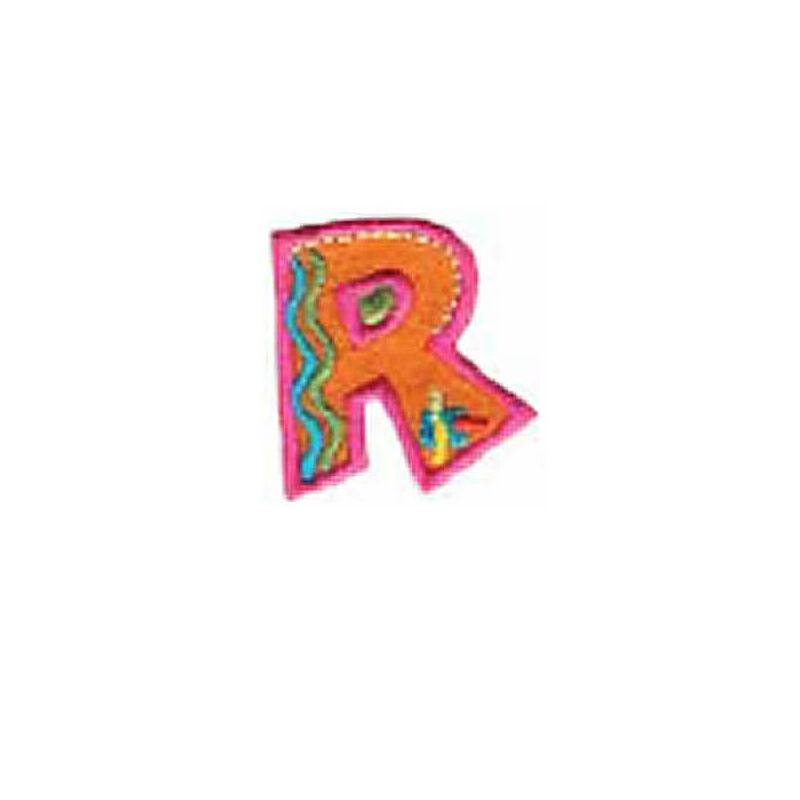 Textil betű, vasalható - R, színes