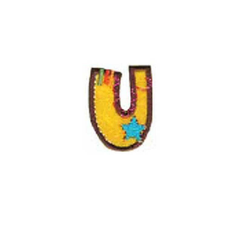 Textil betű, vasalható - U, színes