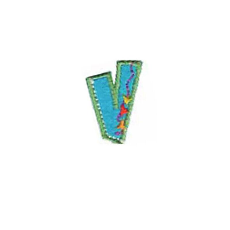 Textil betű, vasalható - V, színes