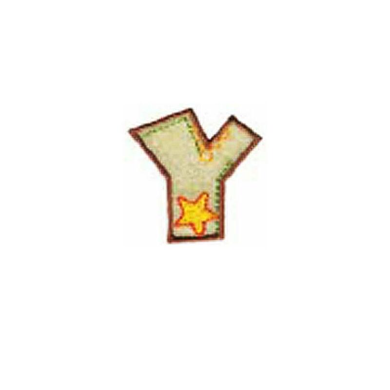 Textil betű, vasalható - Y, színes