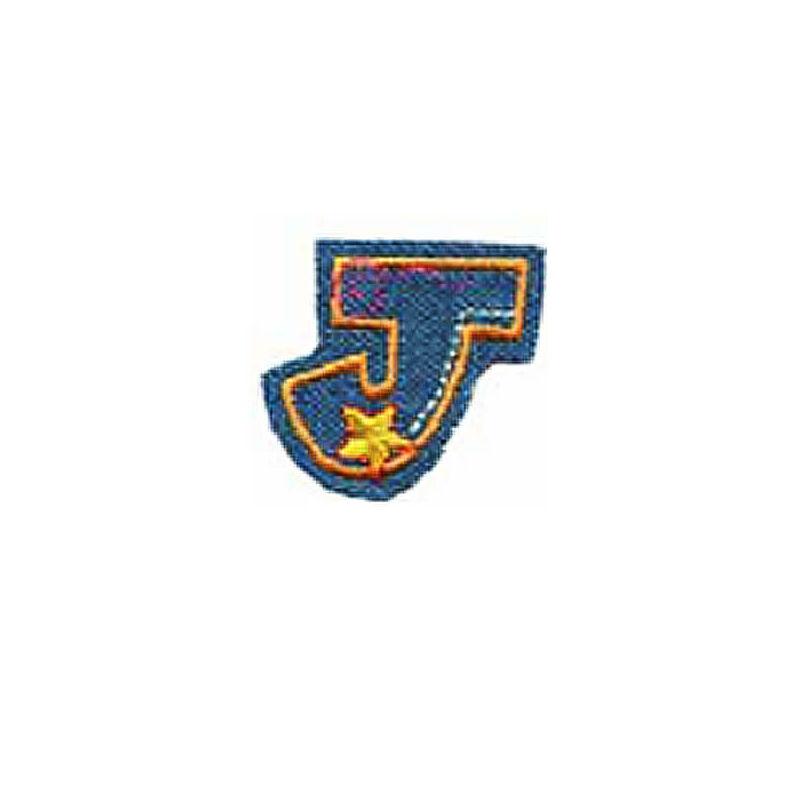 Textil betű, vasalható - J, farmer