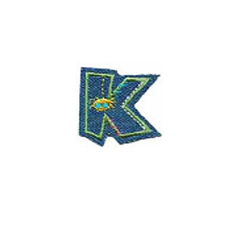 Textil betű, vasalható - K, farmer