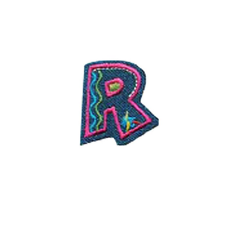 Textil betű, vasalható - R, farmer