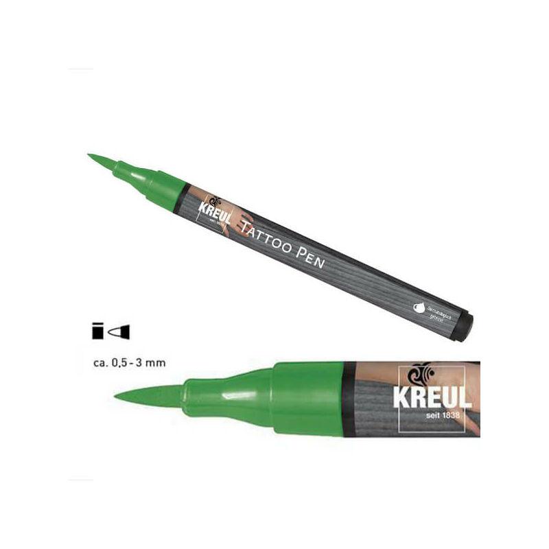Tetováló filc, Tattoo pen, 0,5-3 mm - zöld