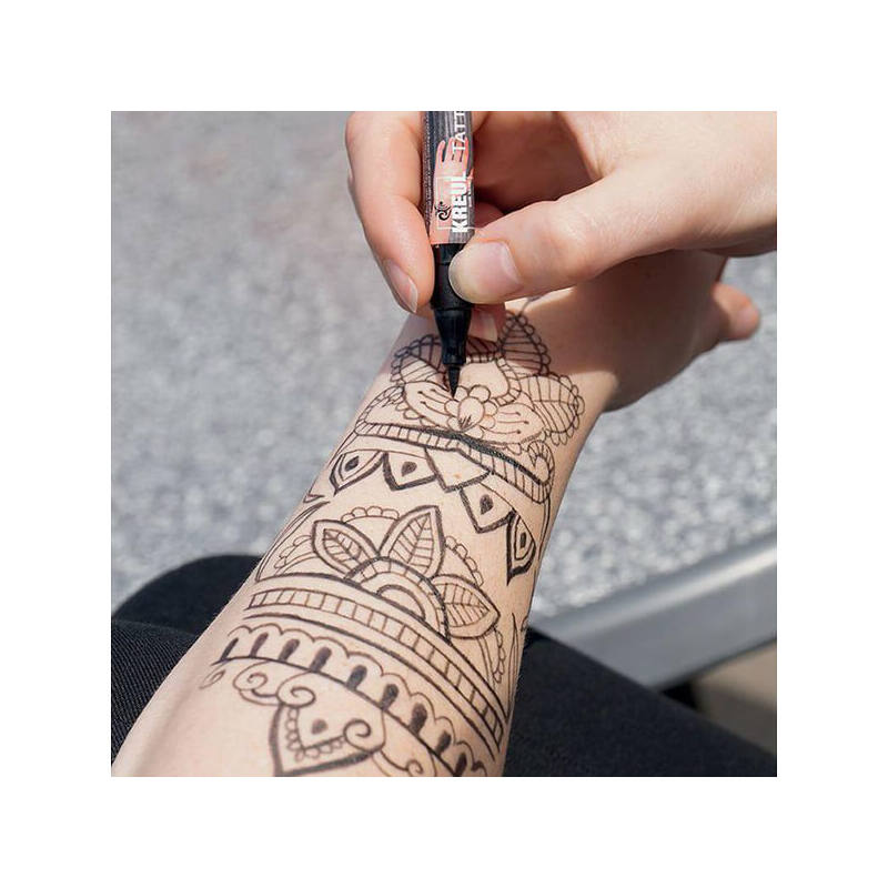 Tetováló filc, Tattoo pen, 0,5-3 mm - henna