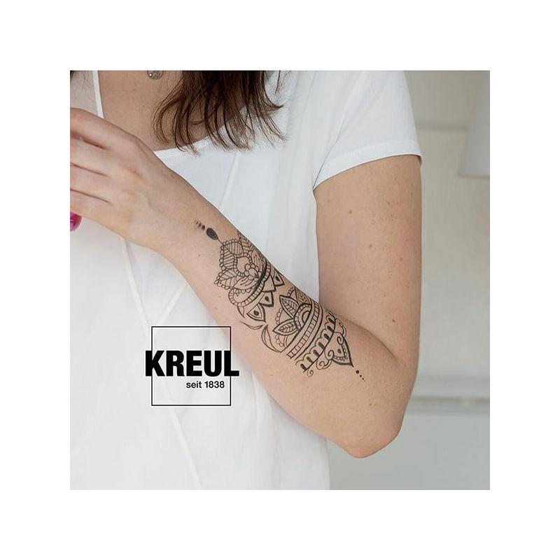 Tetováló filc, Tattoo pen, 0,5-3 mm - piros