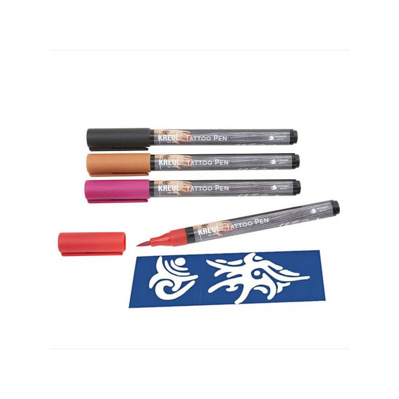 Tetováló filc készlet, Tattoo pen, 0,5-3 mm, 4 db