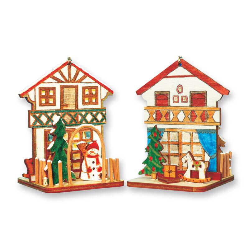 Karácsonyfadísz kézműves csomag - Karácsonyi házikó