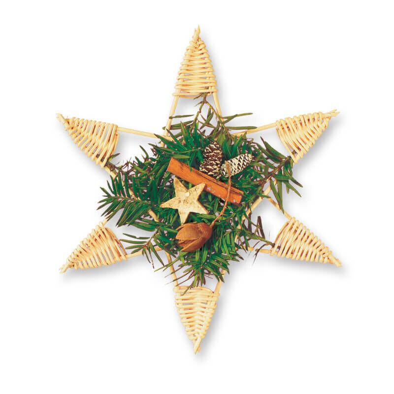 Kosárfonó kézműves csomag, karácsonyi fonott csillag