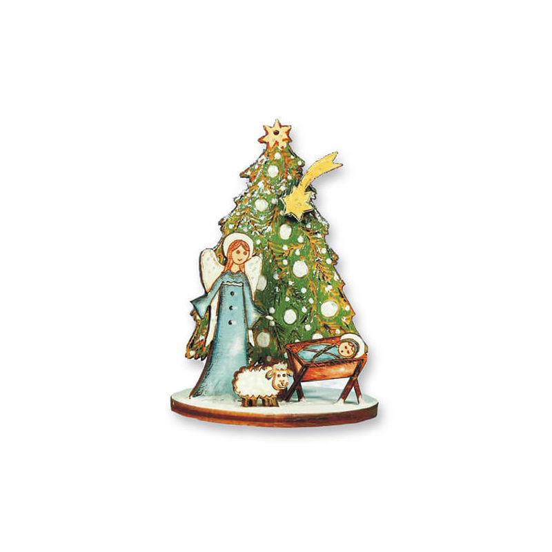 Karácsonyfadísz kézműves csomag - Angyalka jászollal