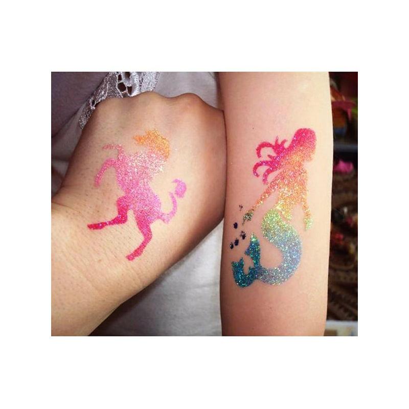 Tetováló sablon, öntapadós stencil - Sellő 1
