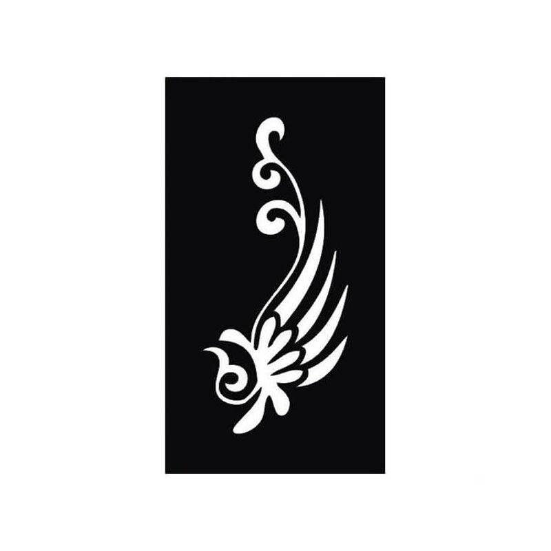 Tetováló sablon, öntapadós stencil - Virág 3