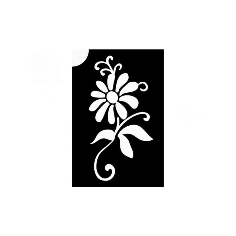 Tetováló sablon, öntapadós stencil - Virág 7