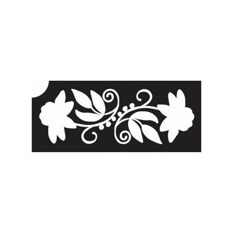 Tetováló sablon, öntapadós stencil - Virág 20