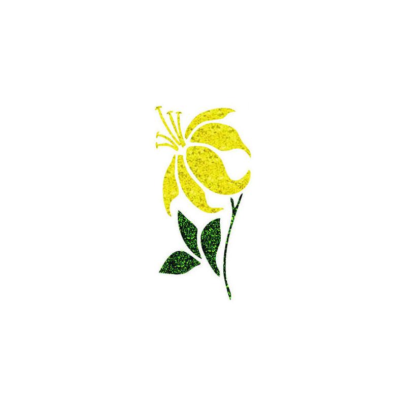 Tetováló sablon, öntapadós stencil - Virág 4